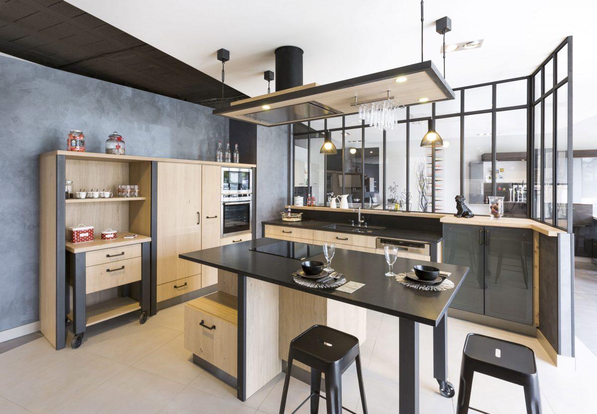 cr ations gravouille r alisation cuisine ch ne brut verri re. Black Bedroom Furniture Sets. Home Design Ideas