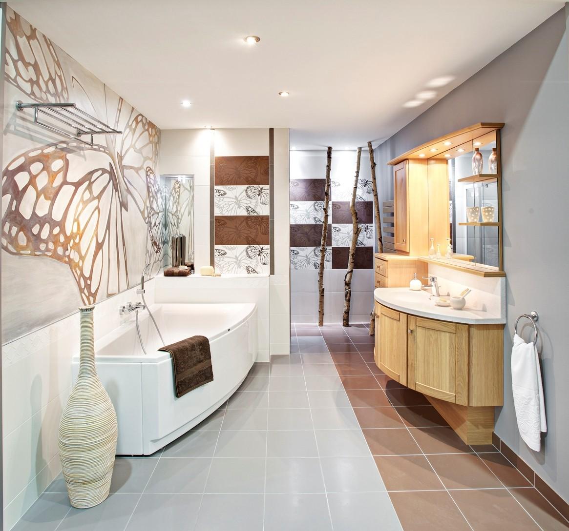 Salle de bains chêne massif