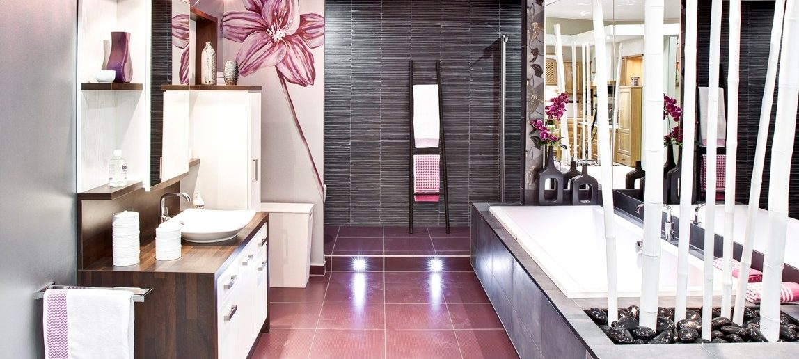 Salle de bains frêne laqué