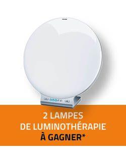 2 lmpes de luminothérapie à gagner